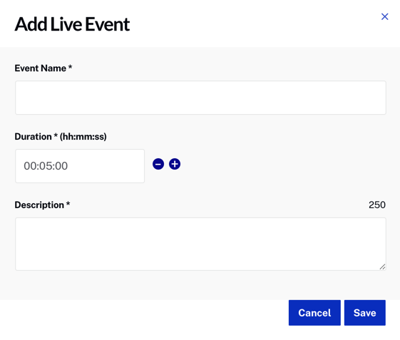 add live event